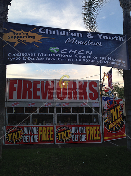 cmcn church children & youth ministries fireworks stand advertisement