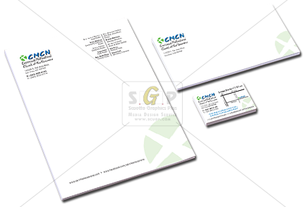 cmcn church colorful stationary packet business card, letterhead and envelope