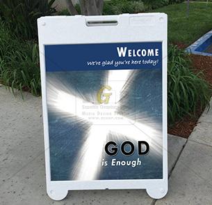 cmcn church welcome sign advertisement