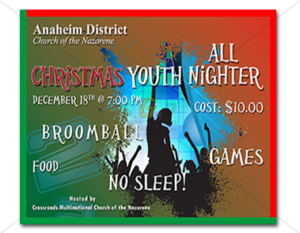 cmcn colorful Christmas youth all-nighter event slide advertisement