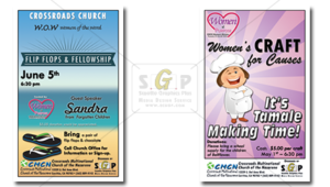 cmcn colorful women's ministry event flyer advertisements
