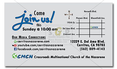 cmcn connect with us backside business card advertisement