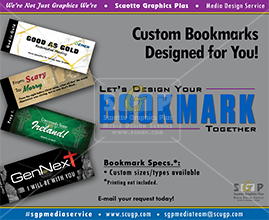 colorful bookmark samples for advertisement