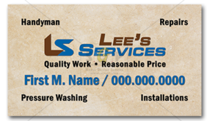 Colorful-lee-services-business-card-advertisement