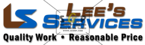Colorful lee services full logo advertisement