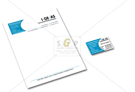 Ideas business card and letterhead stationary